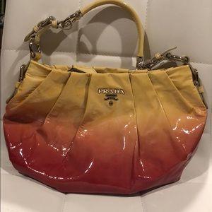 AUTHENTIC Prada Pink Yellow Prada Shoulder Bag